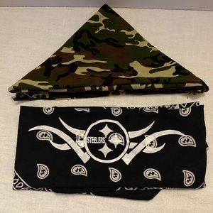 Pittsburgh Steelers/Camo Bandana Bundle
